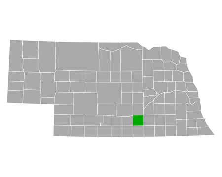 Map of Adams in Nebraska
