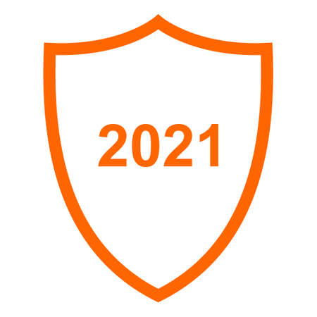 Year 2021 and shield