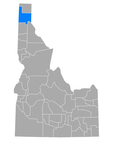 Map of Bonner in Idaho