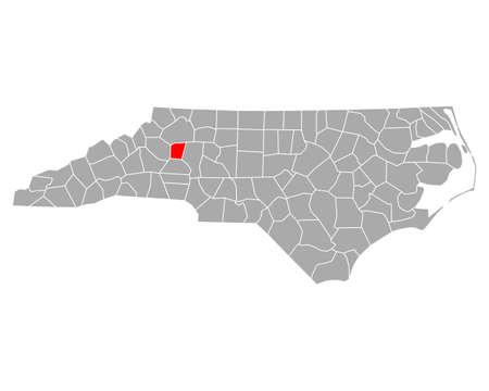 Map of Alexander in North Carolina