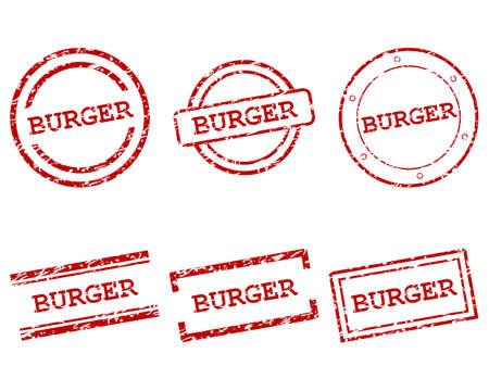 Burger stamps Ilustração