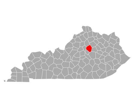 Map of Fayette in Kentucky