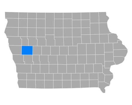 Map of Crawford in Iowa