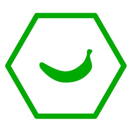 Banana and hexagon Ilustração