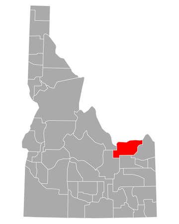 Map of Clark in Idaho