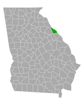 Map of Lincoln in Georgia