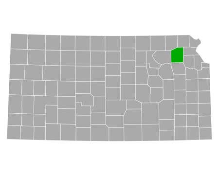 Map of Jackson in Kansas