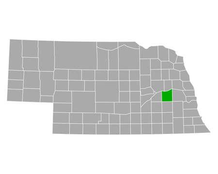 Map of Butler in Nebraska