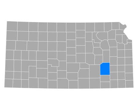 Map of Greenwood in Kansas