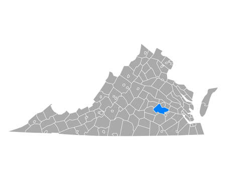 Map of Chesterfield in Virginia