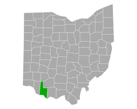 Map of Brown in Ohio Ilustração