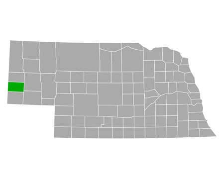 Map of Banner in Nebraska Ilustração