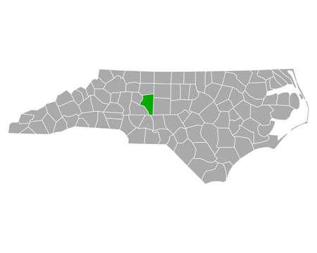 Map of Davidson in North Carolina