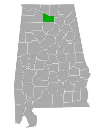 Map of Morgan in Alabama