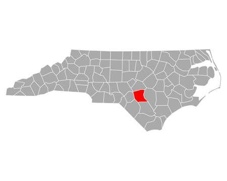 Map of Cumberland in North Carolina