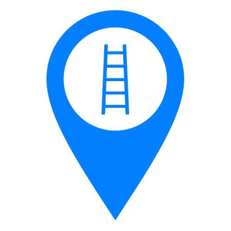 Ladder and location pin