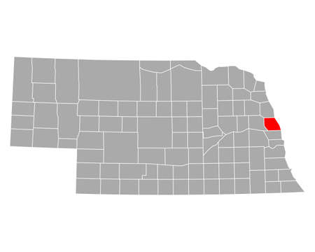 Map of Washington in Nebraska