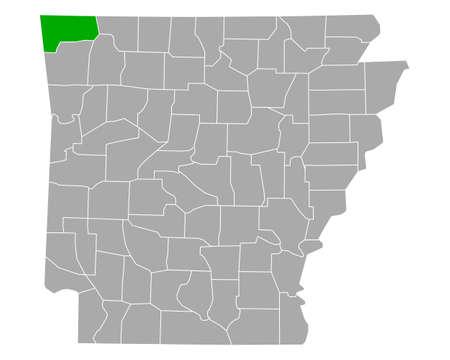 Map of Benton in Arkansas