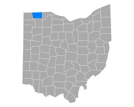 Map of Fulton in Ohio