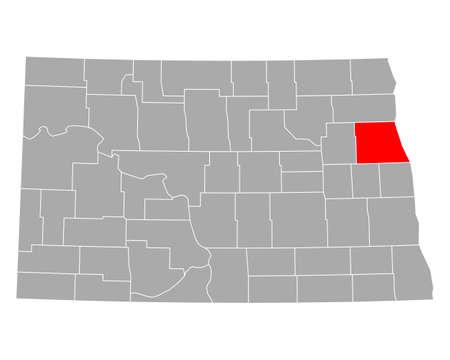 Map of Grand Forks in North Dakota
