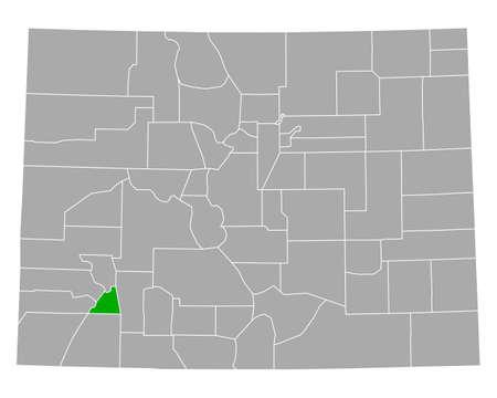 Map of San Juan in Colorado