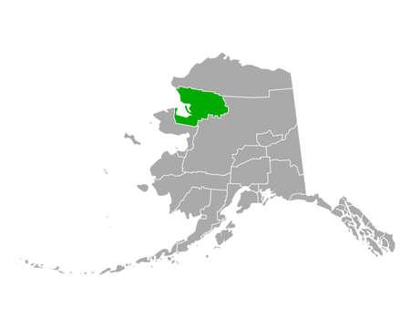Map of Northwest Arctic in Alaska