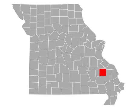 Map of Madison in Missouri