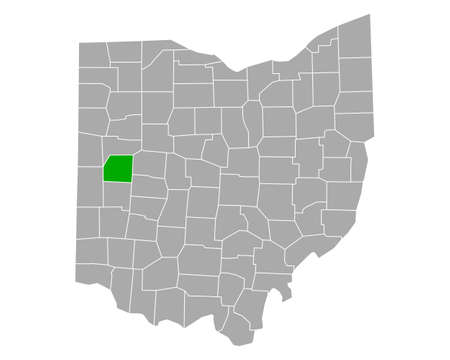 Map of Shelby in Ohio