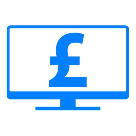 Pound sterling and screen Ilustração