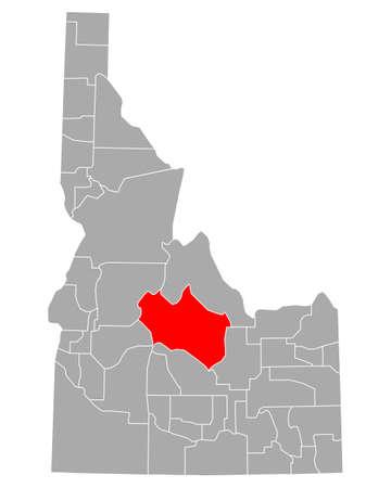 Map of Custer in Idaho