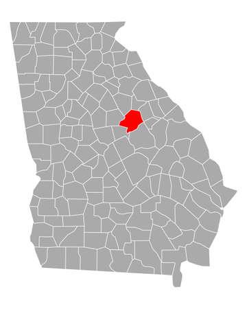 Map of Hancock in Georgia