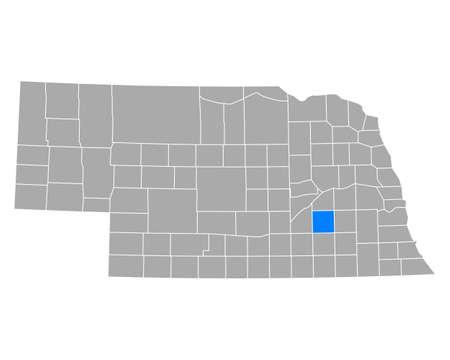 Map of York in Nebraska