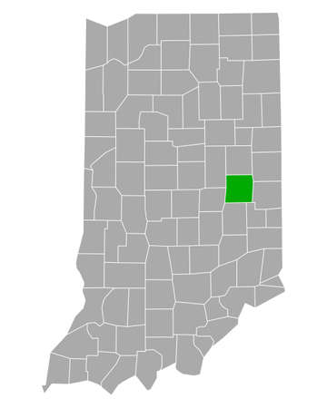 Map of Henry in Indiana