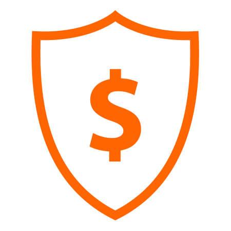 Dollar and shield