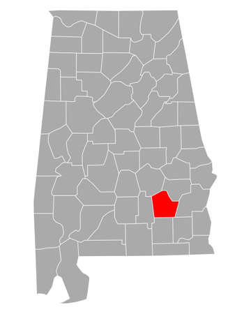 Map of Pike in Alabama Ilustração