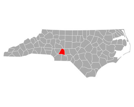 Map of Stanly in North Carolina