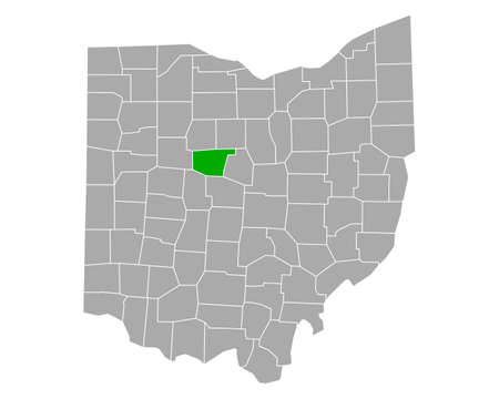 Map of Marion in Ohio