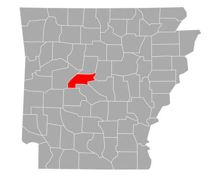 Map of Perry in Arkansas