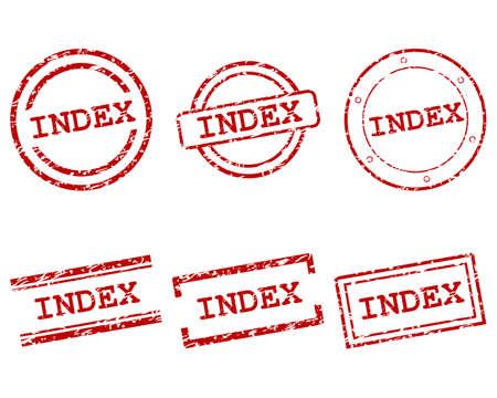 Index stamps Ilustração