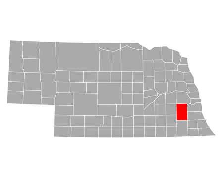 Map of Lancaster in Nebraska