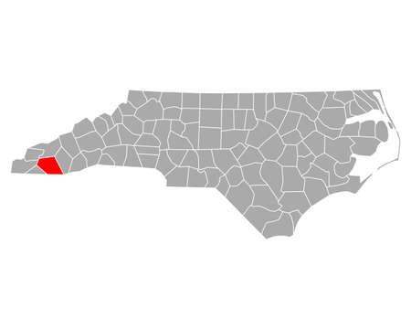 Map of Macon in North Carolina