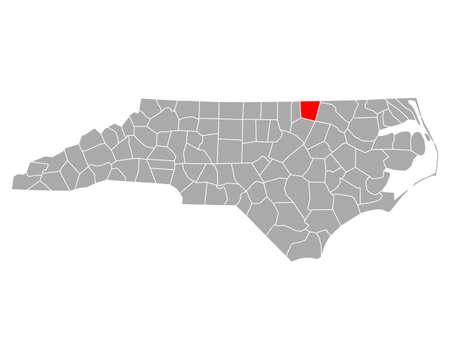 Map of Warren in North Carolina