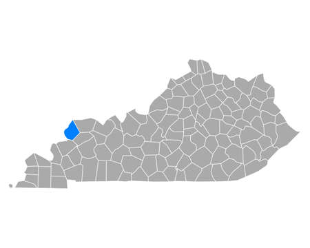 Map of Union in Kentucky
