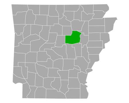 Map of White in Arkansas Ilustração