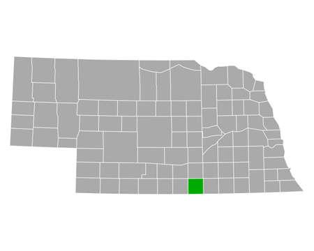 Map of Webster in Nebraska