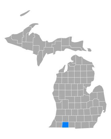 Map of St Joseph in Michigan Иллюстрация