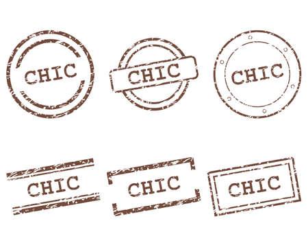 Chic stamps illustration. Ilustrace