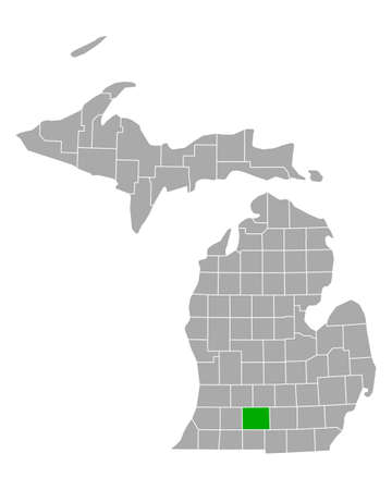 Map of Calhoun in Michigan