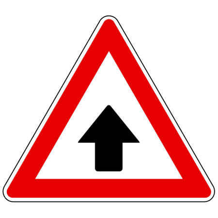 Up arrow and attention sign 矢量图像