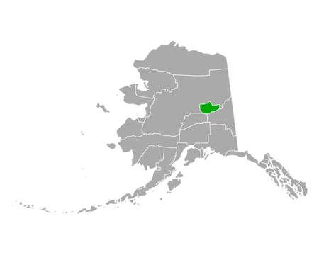 Map of Fairbanks North Star in Alaska